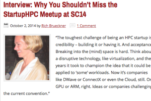 The StartupHPC Community will host its first annual Meetup at SC14 in New Orleans on Nov. 17.  To learn more, we caught up with Cydney Ewald Stevens, Director of the StartupHPC Community...